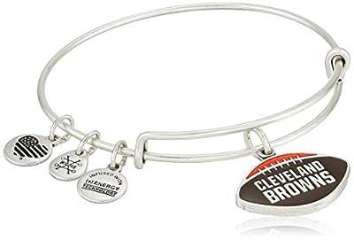 Alex and Ani Women's Color Infusion Cleveland Browns Football II EWB Bracelet, Rafaelian Silver