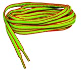 GREATLACES 60 inch Neon Green w/Pink proATHLETIC(TM) Oval Sneaker Laces Shoelaces 2 Pair Pack