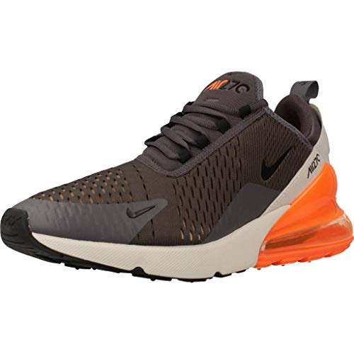 Nike Men's Air MAX 270 Shoe, Hombre, Multicolor (Thunder GreyBlackDesert Sand 024), 42 EU