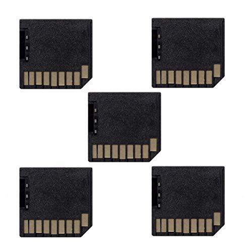 Cablecc 5pcs Micro SD TF to SD Card Kit Mini Adaptor Low Profile for Extra Storage Macbook Air/Pro/Retina Black