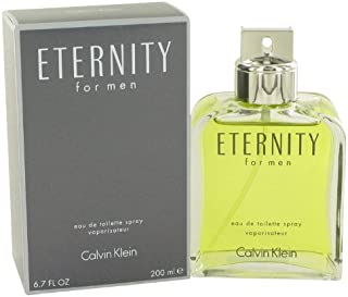Eternity Eau De Toilette Spray for men 6.7 Fl Oz / 200 ml