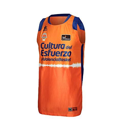 Valencia basket Camiseta de Juego Naranja ACB Hombres, Talla XS