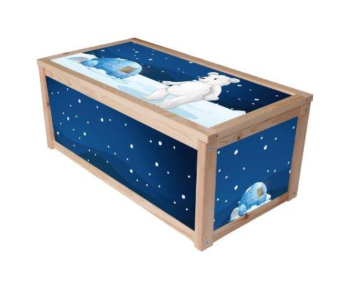 Tierwelt Eisbär Möbelsticker/Aufkleber für die Kiste/Box APA von IKEA - IM141 - Möbel Nicht Inklusive | STIKKIPIX