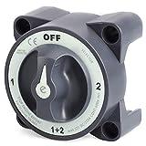 Fransande - Interruptores aisladores de doble batería para barco marino Protegido estanco de 4 posiciones 32 V 350 Una seria E para barco marino