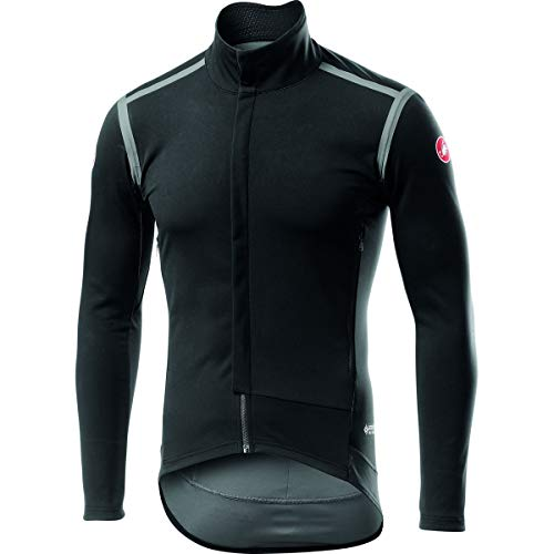 castelli Perfetto Ros Long Sleeve, Giacca Sportiva Uomo, Light Black, XL