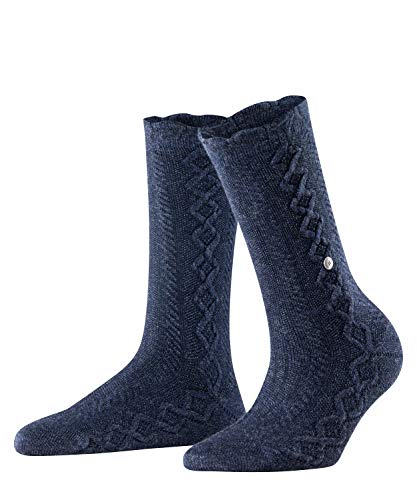 Burlington Damen Country Boot W SO Socken, blau (Navy Mel. 6127), Einheitsgröße (DE 36-41)