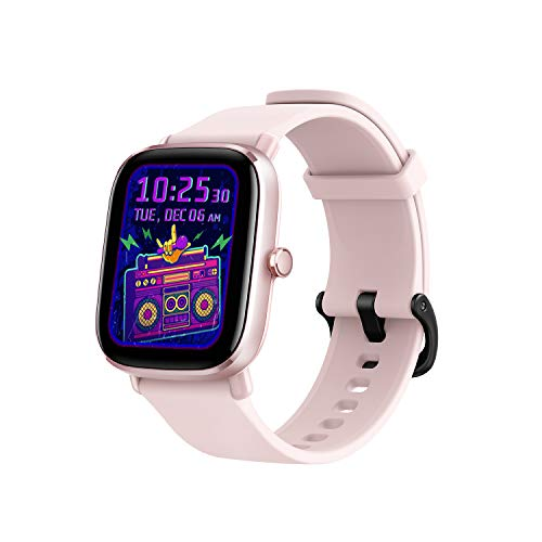 Amazfit GTS 2 Mini Smartwatch Orologio Intelligente AMOLED da 1,55', 70 Modalità di Allenamento con GPS, 5 ATM Impermeabile, Monitor del Sonno, Durata della Batteria di 14 giorni, Uomo, Donna (Rosa)