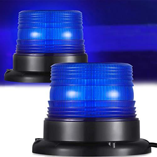 Blaulicht Auto Blitzleuchten Magnetfuß LED Rundumleuchte Blinkleuchte Blau Licht 12v LED Warnleuchte LKW Warnlicht Blaue Lichter für Auto Pkw LKW