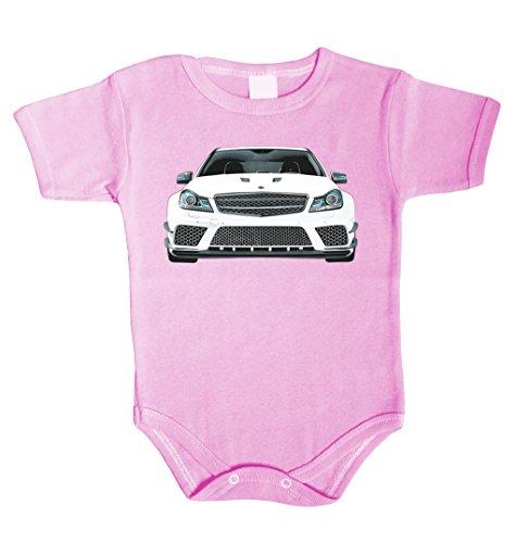 Tradebox Baby Body inspiriert von Future Driver C63 AMG DTM Babykleidung Strampler Unterwäsche Geschenk (68 (3-6 m), Rosa)