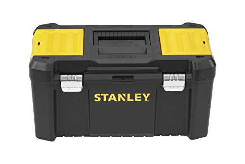 """Stanley Werkzeugbox / Werkzeugkasten (19\"""", 48.2x25.4x25cm, Beladung bis zu 8kg, Werkzeugkoffer mit Metallschließen, Organizer mit entnehmbarer Trage, robuster Koffer aus Kunststoff) STST1-75521"""