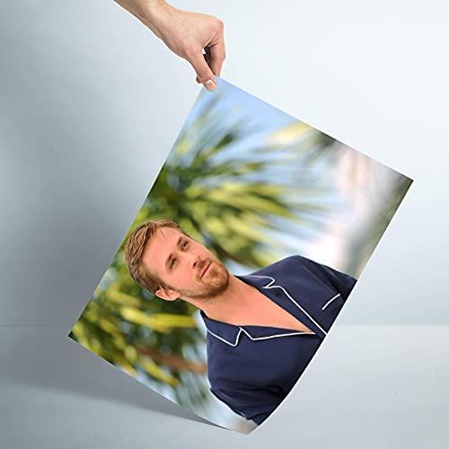 Weibing Ryan Gosling Póster Personalizado Impresión de Lienzo Póster de Pared Impresión de decoración de habitación Colección de Ventiladores 50x70cm S-968