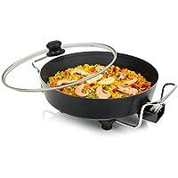 Princess 162367 Multi Wonder Chef Pro Cazuela multiusos eléctrica versátil, 35 cm de diámetro, 7cm de profundidad, termostato regulable, 1800 W, Negro