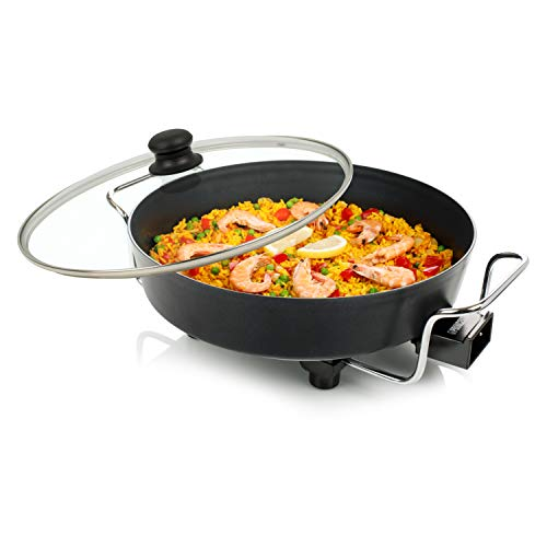 Princess 162367 Multi Wonder Chef Pro Cazuela, 1800 W, Negro