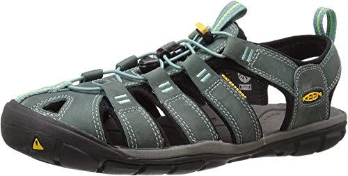 Keen Damen Clearwater CNX Leather Aqua Schuhe, Mehrfarbig (Mineral Blue/Yellow 1014371), 38.5 EU