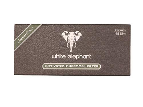 White Elephant 18578 Classic Collection-6 mm Aktivkohlefilter-45 Stück, Papier