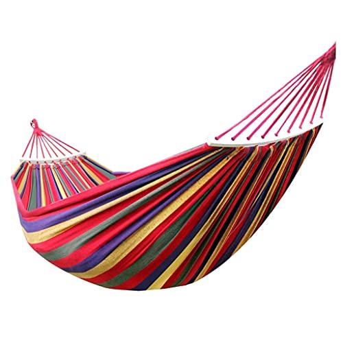 UWY Recreación Hamaca de Lona Ancha y Gruesa Hamaca portátil Camping al Aire Libre Columpio de jardín Silla Colgante Silla Colgante Antivuelco Regalos Individuales/Dobles para Excursionistas (