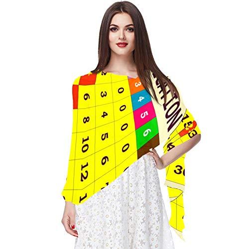 Plantilla de Tabla de multiplicar Bufanda Bufandas Infinity Lightweight Long Sheer Wrap Shawl for Women