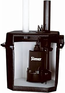 Simer 2925B Self-Contained Above-Floor Corrosion-Resistant Sump/Laundry Sink Pump, 1/4 HP, 115V, 1-1/2