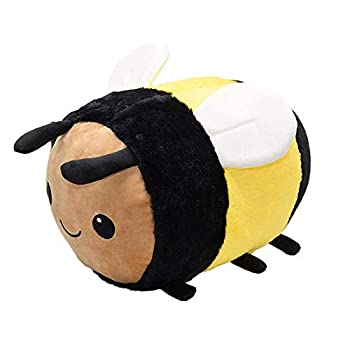 Bumblebee Plush Bee,Fuzzy Bumblebee Stuffed Animal Toy,Honey Bee Plush Soft Toy Pillow Pretty Sweet Gifts Choice for Kids Boys and Girls Present for Birthday or Party - 8 inch