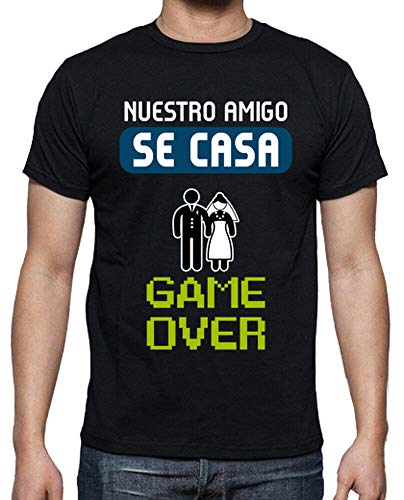 latostadora - Camiseta Despedida de para Hombre Negro M