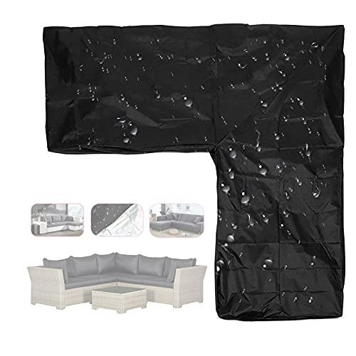 Gettop Schutzhülle für Gartentisch-Rechteckig - Wasserdicht Abdeckplane Gartenmöbel Abdeckung - Regenfest/Reißfest - Design mit Kordelzug + Lagerung Tasche