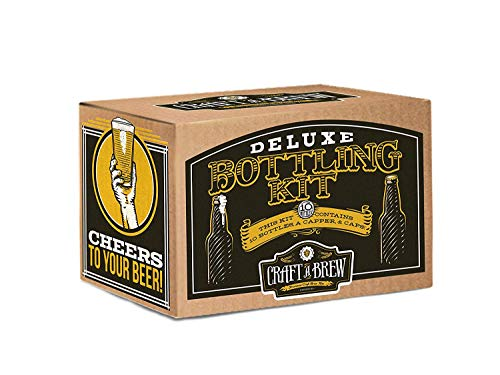 Product Image 5: Deluxe Bottling Kit – Craft a Brew Homebrew Bottler Equipment – Home Brewing Easy Bottling Set – 10 Empty 12oz. Amber Glass Bottles – 30+ Caps – 1 Capper