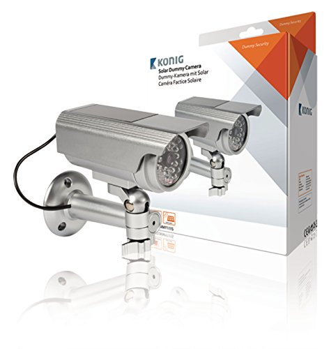 KONIG DUMMY Telecamera simulata di sicurezza solare esterna SAS-DUMMY111S5