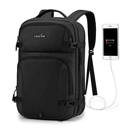 WindTook Mochila portatil 15.6 Pulgadas de Hombre Mochila Trabajo Hombre Mochila Ordenador portatil Impermeable para Trabajo/viaja de Negocios/Escolar Negro