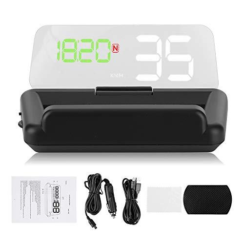 Gorgeri Universal 3.6in HD Auto Headup Display GPS HUD Monitor Multifuncional Proyector T900 Black HUD Instrumento de automóvil para todos los vehículos