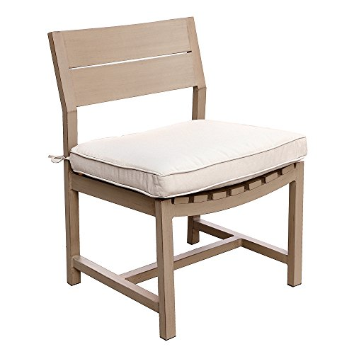Marativa Armless Dining Chair with Cushion - Best Outdoor Patio Furniture