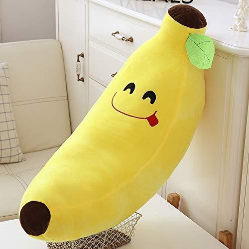 LoXiu Plátano Amarillo Peluche de Juguete Suave Almohada de plátano cojín para la decoración de la Cama Familiar bebé niño Regalo de cumpleaños 65 cm 3