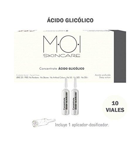 Ampollas faciales CONCENTRATE ÁCIDO GLICÓLICO 10 viales 2ml. M·O·I SkinCare
