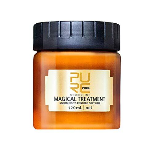 Mascarilla para el cabello con ungüento de reparación profunda, alimento ultra nutritivo para el cuidado del cabello (con toalla para el cabello) 120 ml (a)