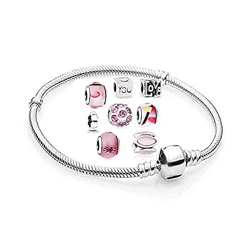 AKKi jewelry Braccialetto in acciaio inox con perle e strass, colore: argento, Acciaio inossidabile,