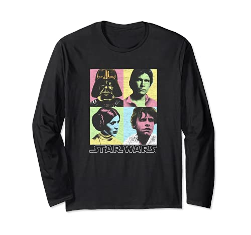 Star Wars Original Cast Pop Color Four Box Photographs Langarmshirt