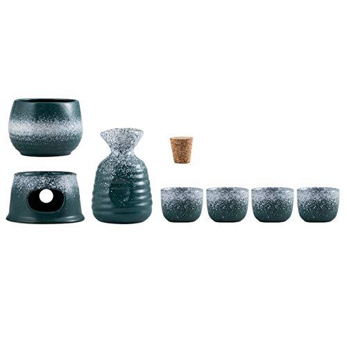 Juego de cerámica para servir sake de estilo japonés, copas de vino,...