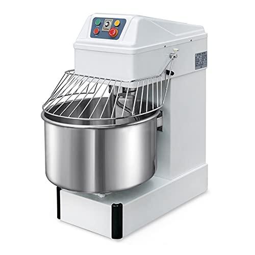 Flatware 2021 Upgrade Kommerzieller Lebensmittelmixer Teigmixer Teigknetmaschine Spiralmixer Standmixer Grinder Teigmacher Verwendet In Verschiedenen Gastronomie-Industrie, 220V, Weiß (Size : 30L)