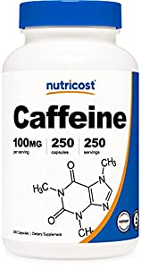 100mg of Caffeine Per Capsule 250 Capsules in Each Bottle Get The Caffeine of An Energy Drink, But Without the Sugar Of One. Non-GMO, Gluten Free, 3rd Party Tested Made in a GMP Compliant, FDA Registered Facility
