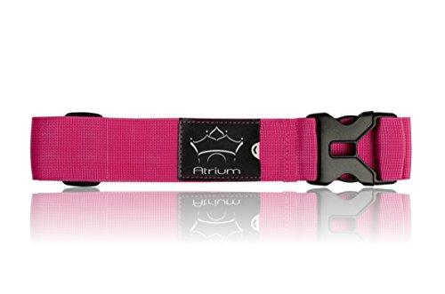 Koffergurt Atrium / extra stabiles Kofferband in schönen, auffälligen Farben/Gepäckband mit Kofferanhänger Größe: 200 cm (Pink)