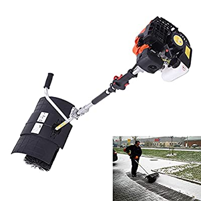 Hand Held Power Sweeper,2 Stroke 52CC Gas Powered Sweeping Broom Cleaning Driveway Efficient Tool