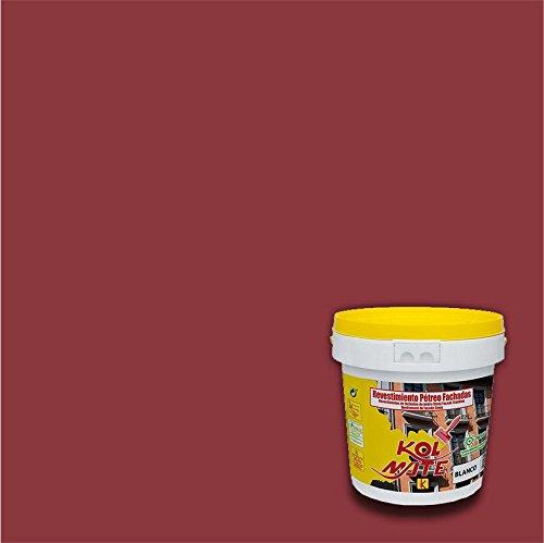 Revestimiento Pétreo de Fachadas KOLMATE. Pintura especial para fachadas (5 kg, óxido rojo)