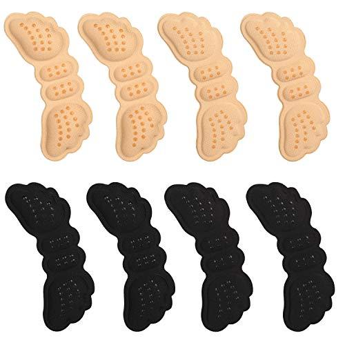 VABNEER 4 Paar Fersenschutz Fersenkissen Schuhe Fersenpolster Fersenschutz für Schuhe Schutz gegen Reibung und Blasen | für zu große Schuhe (Beige &...