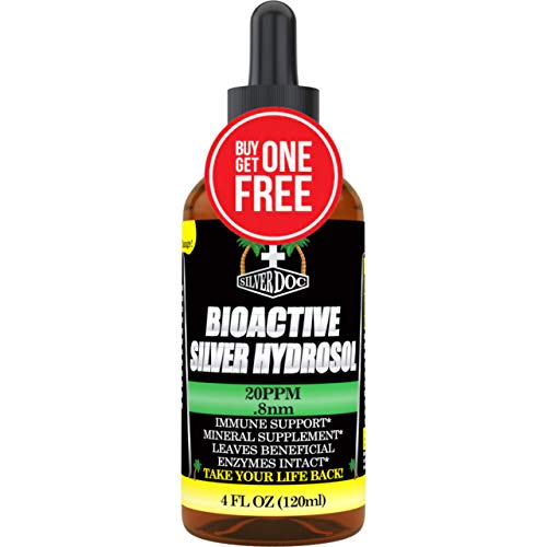 Silver Doc Silver Hydrosol Dropper, Natural Alternative & Immune Support, More Effective Than Any Colloidal Product, 2 - 4oz Dropper Bottles, Silver Hydrosol Drops