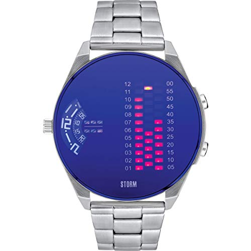 STORM London Digirem Lazer Blue, Herrenuhr, Digitaluhr, Datumsfunktion, Dualtime-Funktion, Edelstahlgehäuse, Mineralglas, 5 bar Wasserdicht, 47431/LB