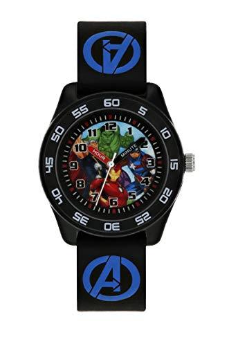 Avengers Garçons Analogique Quartz Montre avec Bracelet en Caoutchouc AVG9007