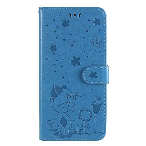 LORMI Funda para Samsung Galaxy A32 4G, Funda de Cuero PU de Primera Calidad [Ranura para Tarjeta] con [Cierre magnético] [Soporte para teléfono móvil] Funda abatible&Azul