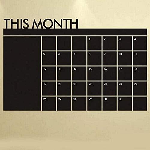 aipipl Pegatinas de Pared Plan de Mes Calendario Pizarra Pizarra Diseño de Arte Calcomanía DIY Decoración autoadhesiva Papel Tapiz Vinilo 3D para el hogar Sala de Estar Dormitorio Baño Cocina Decor