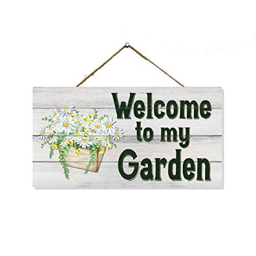 Chico Creek Signs Garden Sign Decorative Signs Gardening Plants Dads Moms Welcome Herb Plant Vegetable Decor Wood Wall Art Wooden Hanging Decorations 5x10 Gift SP-05100002023
