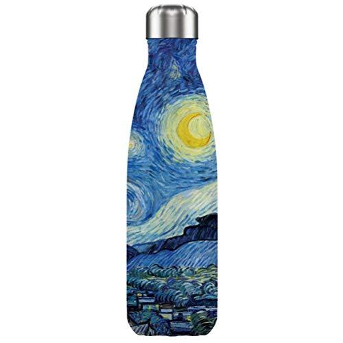 """Van Gogh, Thermos de acero inoxidable con """"La Noche Estrellada"""", Enesco"""