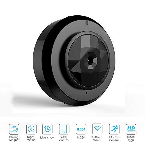 AWIS Wireless WiFi Kamera,Klein und Dünn,Remote Überwachung Kamera,Infrarot Nachtsicht,Starke Magnetische Adsorption für Sicherheitsüberwachung,Fahren,Radfahren,Drohne